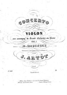 Violin Concerto in A Minor, Op.18: Arrangement for violin and piano by Alexandre Joseph Artôt