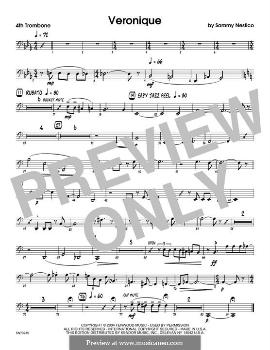 Veronique: 4th Trombone part by Sammy Nestico