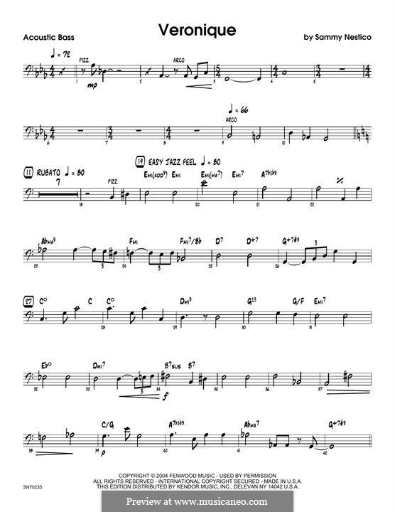 Veronique: Bass part by Sammy Nestico