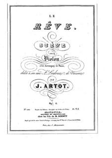 Le Rêve. Scene for Violin and Piano, Op.6: Solo part by Alexandre Joseph Artôt