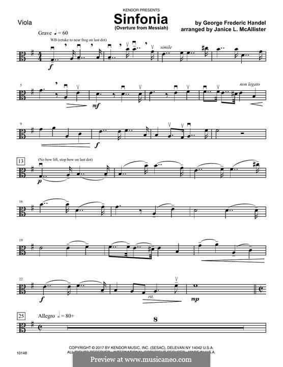 No.1 Overture: Viola part by Georg Friedrich Händel