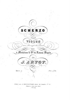 Scherzo for Violin and Piano, Op.7: Solo part by Alexandre Joseph Artôt