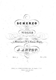 Scherzo for Violin and Piano, Op.7: Score by Alexandre Joseph Artôt