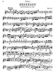 Serenade in D Major for Flute, Violin and Viola, Op.25: Violin part by Ludwig van Beethoven
