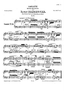 Sonata for Piano No.12 in A Flat Major, Op.26: For a single performer by Ludwig van Beethoven