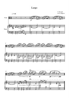 Movement II (Largo): For viola and piano by Antonín Dvořák