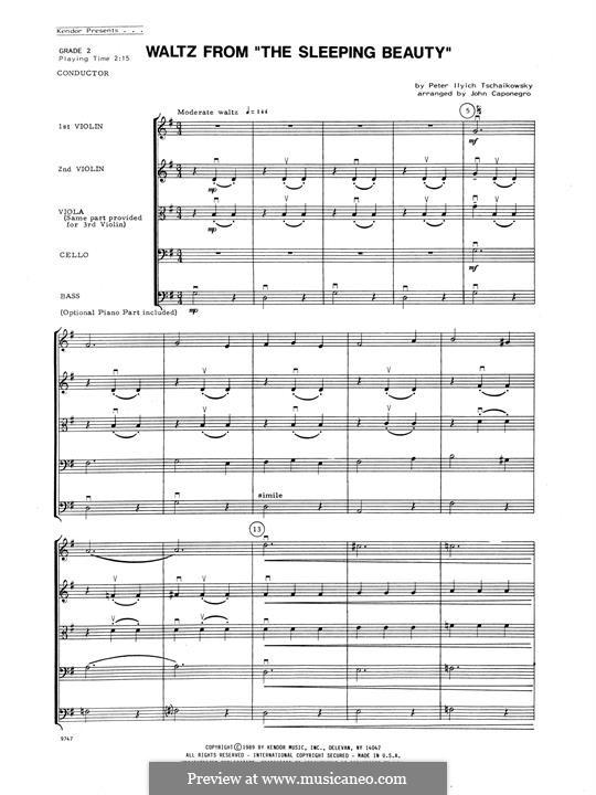 Waltz: For strings – Full Score by Pyotr Tchaikovsky
