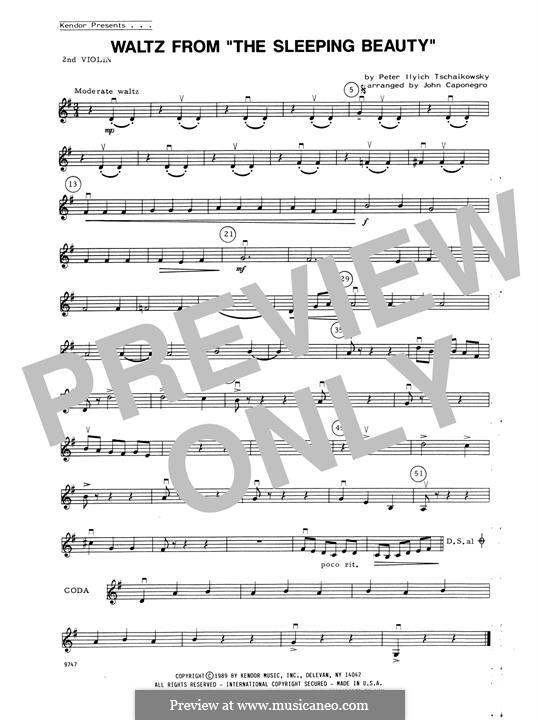 Waltz: For strings – 2nd Violin part by Pyotr Tchaikovsky