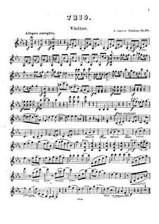 Piano Trio No.3 in C Minor, Op.101: Violin part by Johannes Brahms