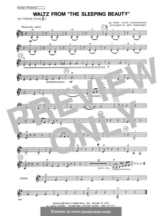 Waltz: For strings – 3rd Violin part by Pyotr Tchaikovsky