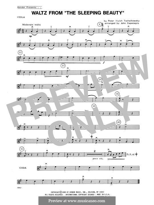 Waltz: For strings – Viola part by Pyotr Tchaikovsky