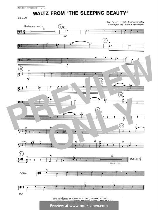 Waltz: For strings – Cello part by Pyotr Tchaikovsky