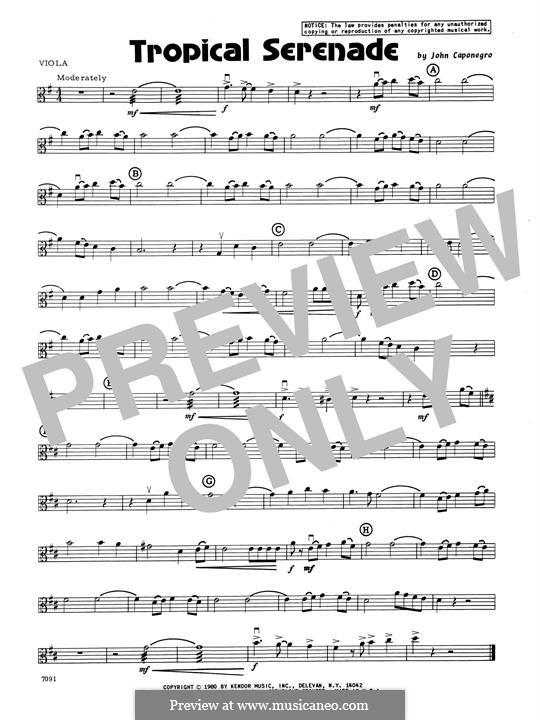 Tropical Serenade: Viola part by John Caponegro