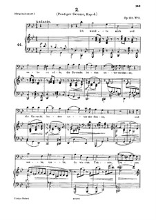 Four Serious Songs, Op.121: Nr.2 Ich wandte mich und sahe an alle by Johannes Brahms
