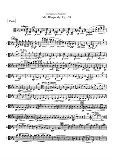 Alto Rhapsody, Op.53: Viola part by Johannes Brahms