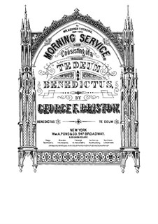 Morning Service, Op.51: No.2 Benedictus by George Frederick Bristow