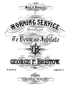 Morning Service, Op.58: No.2 Jubilate by George Frederick Bristow