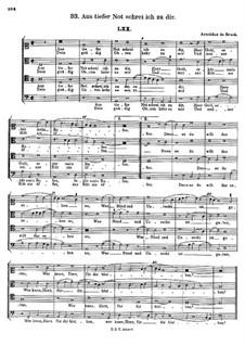Aus tiefer Not Schrei ich zu dir: Aus tiefer Not Schrei ich zu dir by Arnold von Bruck