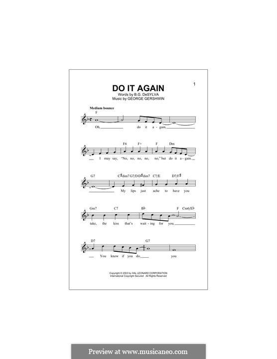 Do it Again: For keyboard by George Gershwin