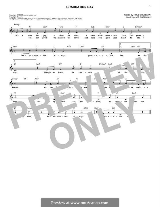 Graduation Day (The Four Freshmen): For keyboard by Joe Sherman, Noel Sherman