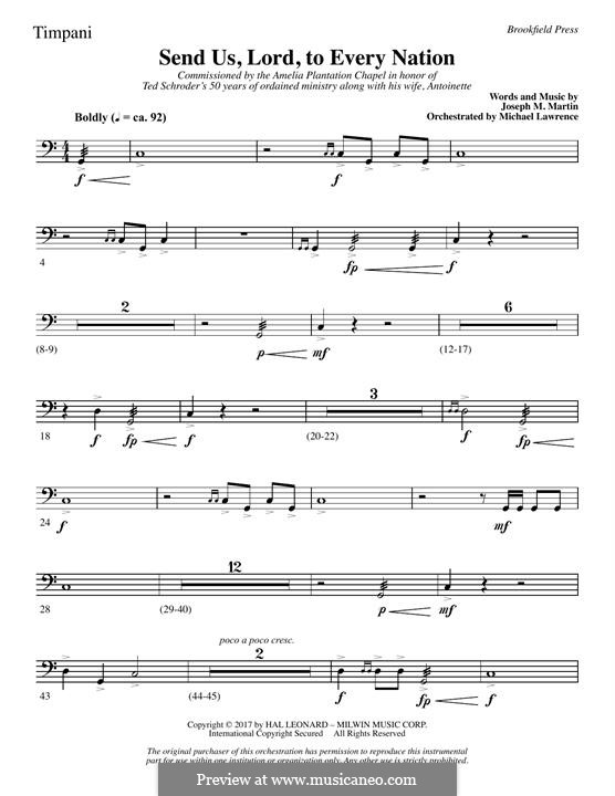 Send Us, Lord, to Every Nation: Timpani part by Joseph M. Martin