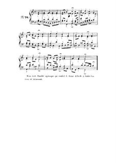 Choix de chorals: Choral No.76 by Johann Sebastian Bach