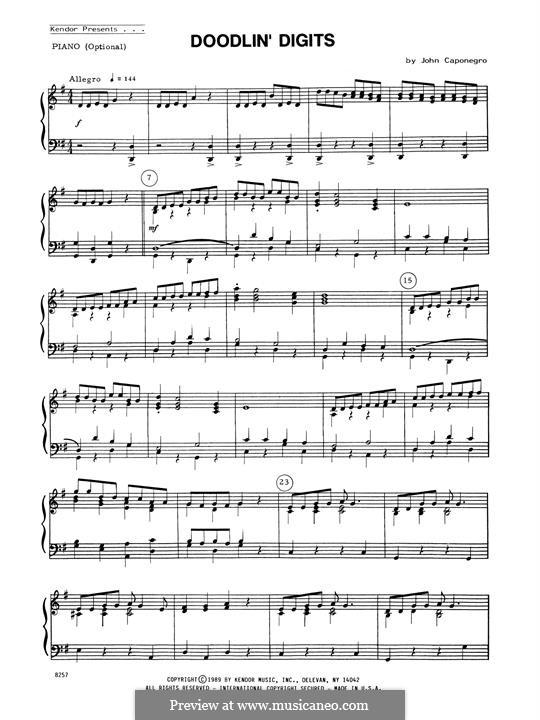 Doodlin' Digits: Piano Accompaniment by John Caponegro