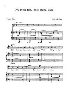 Dry those Fair, those Crystal Eyes: Dry those Fair, those Crystal Eyes by Edward Elgar