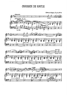 Two Pieces, Op.15: For violin and piano by Edward Elgar