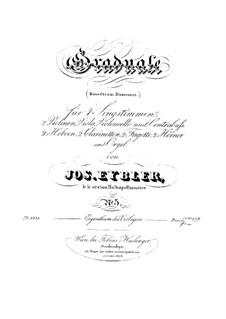 Benedicam Dominum, HV 55: Parts by Joseph Eybler