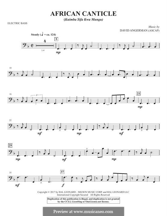 African Canticle: Electric Bass part by David Angerman