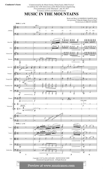 Music in the Mountains: Score by Joseph M. Martin