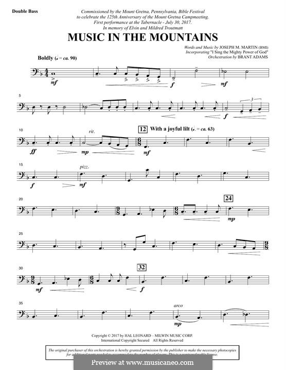Music in the Mountains: Double Bass part by Joseph M. Martin