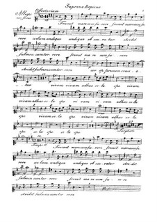 Fremit mare, HV 93: Soprano ripieno part by Joseph Eybler