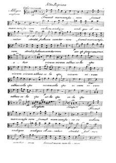 Fremit mare, HV 93: Alto ripieno part by Joseph Eybler