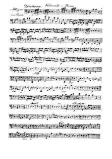 Fremit mare, HV 93: Cello and double bass part by Joseph Eybler
