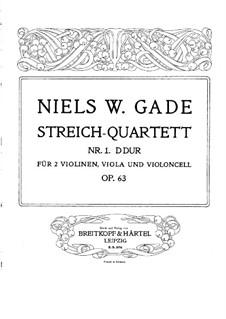 String Quartet No.1, Op.63: Parts by Niels Wilhelm Gade