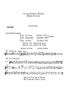 Julius Caesar in Egypt, HWV 17: Trumpet part by Georg Friedrich Händel