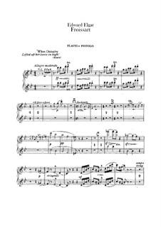 Froissart, Op.19: Flutes part by Edward Elgar