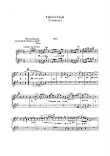 Froissart, Op.19: Oboes part by Edward Elgar