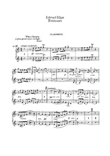 Froissart, Op.19: Clarinets part by Edward Elgar