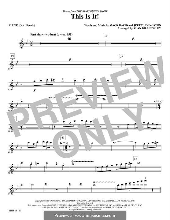 This Is It (The Bugs Bunny Show): Flute part by Jerry Livingston, Mack David