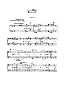 Froissart, Op.19: Bassoons parts by Edward Elgar