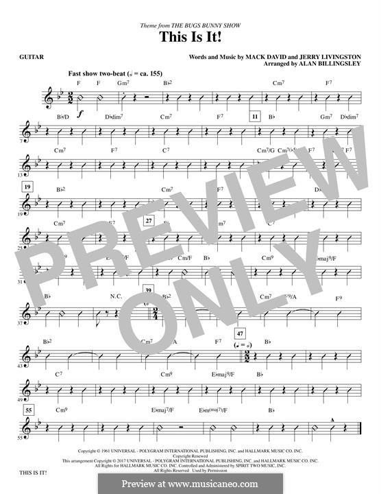 This Is It (The Bugs Bunny Show): Guitar part by Jerry Livingston, Mack David