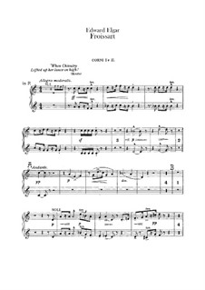 Froissart, Op.19: French horns parts by Edward Elgar