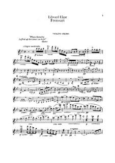 Froissart, Op.19: Violin I part by Edward Elgar