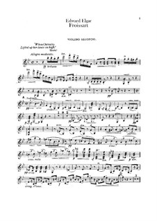 Froissart, Op.19: Violin II part by Edward Elgar