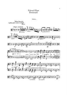 Froissart, Op.19: Viola part by Edward Elgar