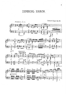 Imperial March, Op.32: For piano by Edward Elgar