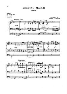 Imperial March, Op.32: For organ by Edward Elgar